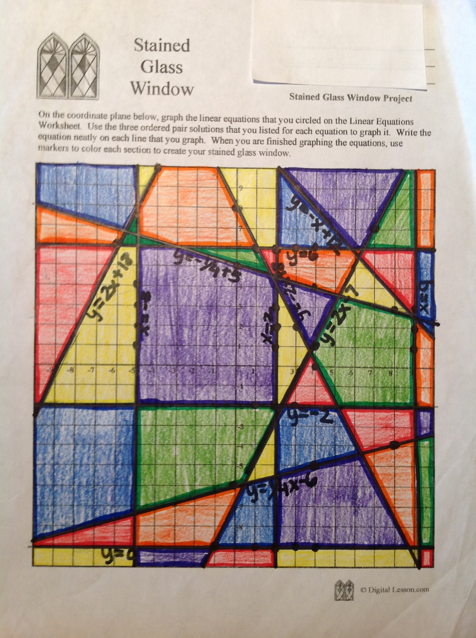 Sample Stained Glass Window Project – Click for Larger Image