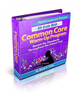 8th Grade Math Common Core Warm-Up Program