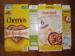 Cereal Box Surface Area - Cheerios
