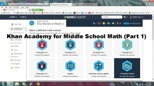 Khan Academy for Middle School Math (Part 1)