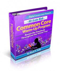 8th Grade Math Common Core Warm-Up Program
